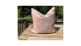 Image of a Blush Patterned Pillow