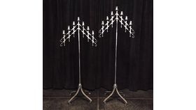 Image of a 7 Light Candelabra  - Silver