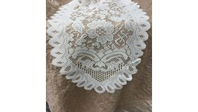 Image of a Lace Crochet - Ivory Runner 13x96""