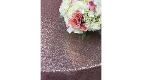 "Image of a Sequin - Blush 120"" Round"