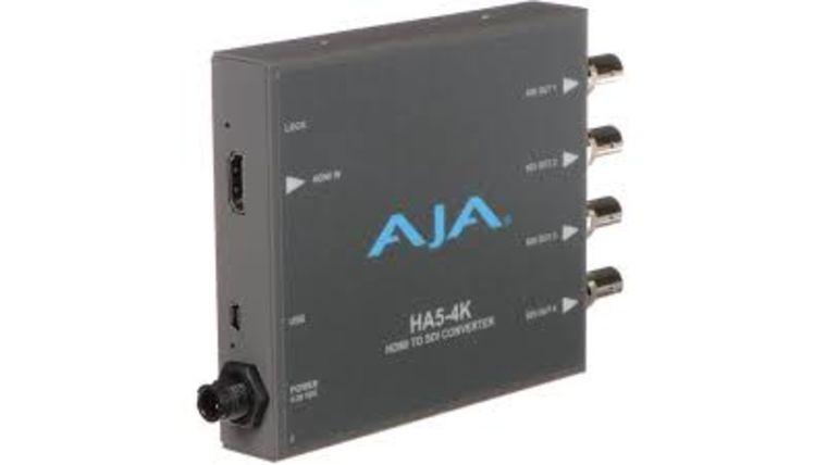 Picture of a AJA HA5-4K 4K HDMI to SDI Mini-Converter
