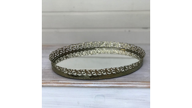 Image of a Gold Mirrored Tray
