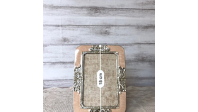 Image of a Dusty Pink & Silver Picture Frame