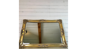 Image of a Large Gold Frame Mirror