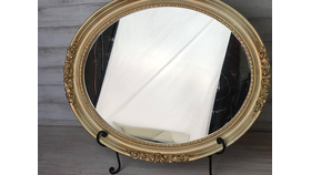 Image of a Gold Dust Oval Mirror