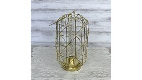 Image of a Geometric Gold Lamp
