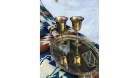 Image of a Brass Goblets
