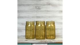 Image of a Amber Glass Jars