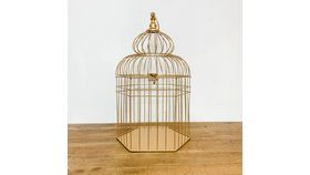 Image of a Gold Bird Cage