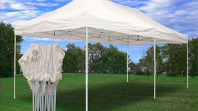 Image of a 10' x 20' White POPUP Tent