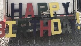 Image of a HAPPY BIRTHDAY ! SIGN