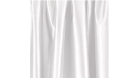 Image of a Draping - White Poly Silk Panel