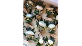 Image of a White Boutonniere