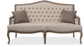 Image of a Gloria-Beige Tufted Sofa