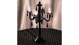Image of a Candelabra - Plastic - Black