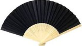 Image of a Chinese Fan - Red and Black