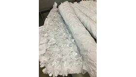 Image of a Mylar Flower Wrap White Roll