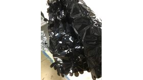 Image of a Mylar Flower Wrap Black Roll