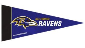 Image of a Baltimore Ravens Mini Banners