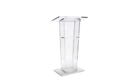 Image of a Clear Acrylic Podium