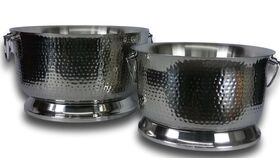 """Image of a Hammered Footed Beverage Tub - 19"""""""