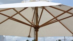 Image of a Ivory Market Umbrella - 11'