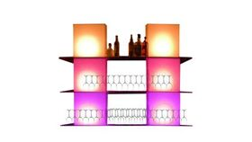 Image of a Illuminated Full Cube Back Bar