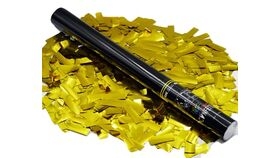 "Image of a 22"" Gold Metallic Confetti Single Use Cannon Kit Purchase"