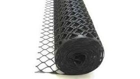 Image of a 4' x 100' Black Mesh Snow Fence