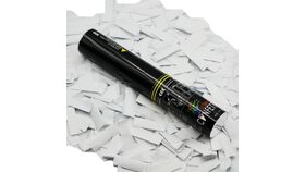 "Image of a 11"" White Tissue Confetti Single Use Cannon Purchase"