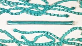"""Image of a 1/2"""" x 18' Teal Tissue Streamers"""