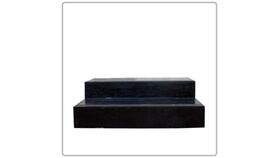 Image of a 2 Step Stage Stairs w/o Rail - Black Wood
