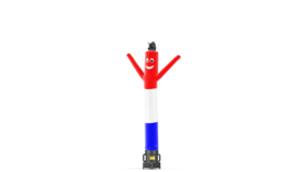 Image of a Air Dancers® Inflatable Tube Man Red, White, and Blue USA - 20'