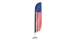 Image of a American Flag Feather Flag - 12'