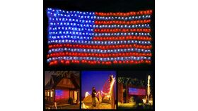 Image of a LED American Flag Lights,6.5ft3.2ft Waterproof