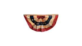 Image of a American Flag Vintage Bunting