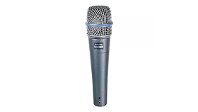 Image of a Shure Beta 57A Supercardioid Dynamic Vocal and Instrument Microphone with High Output Neodymium Element (Live Band )