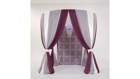 Image of a 10' Round Canopy Backdrop
