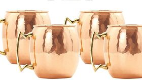 Image of a Beverage Glass - 18 oz. Copper Moscow Mule Hammered Copper Drinking Mug Rental