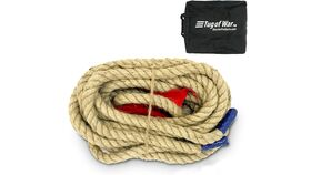 Image of a 33' Tug Of War Rope With Flag Lawn Game