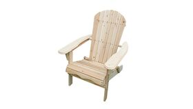 Image of a Adirondack Chair - Natural Wooden