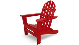 Image of a Adirondack Chair - Red Wooden