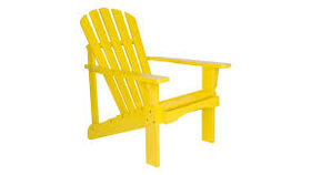 Image of a Adirondack Chair - Yellow Wooden
