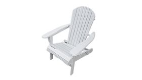 Image of a Adirondack Chair - White Wooden