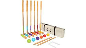 Image of a Basic Wooden Croquet Set
