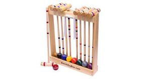 Image of a Deluxe Amish Croquet Set