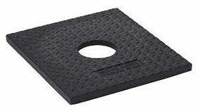 Image of a 10 lb Black Square Rubber Delineator Post Base