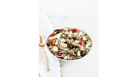 Image of a Small Roasted Vegetable and Orzo Salad Purchase (Serves 15)