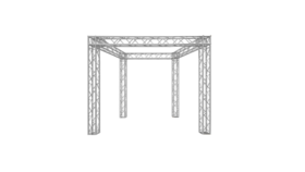 """Image of a 10' x 10' x 10' H Global Truss 12"""" Box Package Rental"""
