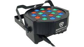 Image of a Battery PAR 50 Black Rechargeable LED DMX DJ Club Wash Up-Light+Remote